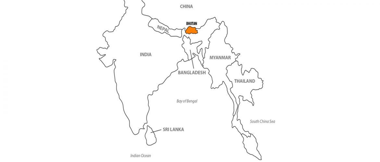 แผนที่ประเทศภูฏาน